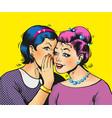pop art girls share secrets pin up pop art comic vector image vector image