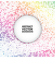 rainbow color modern geometrical circle abstract vector image