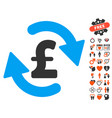 refresh pound balance icon with valentine bonus vector image vector image