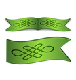 ribbons with endless celtic knot vector image vector image