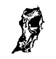 san salvador bahamas island map silhouette vector image