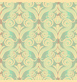 seamless pattern of curls in the damascus style vector image