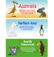 set of animals from the world vector image vector image