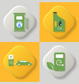 set of four icons vector image vector image