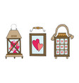 set of hand drawn of a wooden vector image vector image