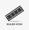 simple ruler icon flat design vector image