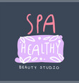 spa healthy and beauty studio logo design badge vector image vector image