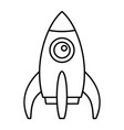 space rocket icon outline style vector image