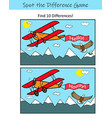spot difference educational game for kids vector image vector image
