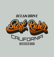 surf rider handwritten unique lettering template vector image vector image