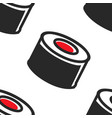sushi rolls seamless pattern japanese food vector image vector image
