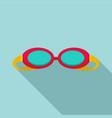 swim glasses icon flat style vector image