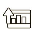 tablet statistics diagram up arrow business vector image vector image