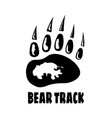 track bear black footprint paw with claws
