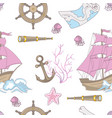 travel tale ocean sea vacation seamless pattern vector image