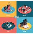 Wearable technology set vector image vector image
