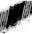 White tire track on black ink blots vector image