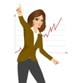 woman happy for her success vector image vector image