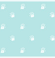 seamless pattern prints of hands of the child vector image