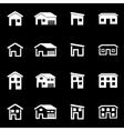 white house icon set vector image