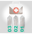 Label set with medical infographic steps vector image