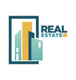 real estate icon template for building vector image