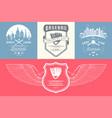 set of vintage baseball logos and badges vector image