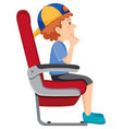 a boy on the airplane seat vector image vector image