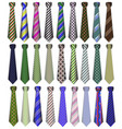 a set of business business ties on a white vector image vector image