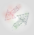 abstract arrows set low poly geometrical figures vector image