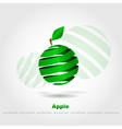 abstract green apple vector image vector image