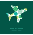 abstract green circles airplane silhouette vector image vector image