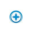 abstract healthcare cross logo design concept vector image vector image