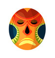 african mask isolated on white background vector image