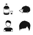 alcohol clos and or web icon in black style vector image