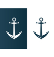 Anchor business modern logo silhouette ship vector image