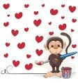 Artist Monkey vector image vector image