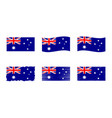 australia flag set official vector image vector image