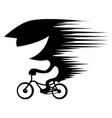 bike riding high speed stencil vector image vector image