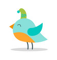 bird with closed eyes on vector image