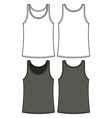 Black and white singlet template vector image vector image