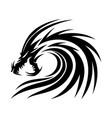 black angry dragon vector image vector image