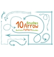 brushes set with arrows vector image vector image
