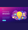 Business trend analysis concept landing page