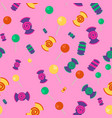 candy and lollipop seamless pattern vector image vector image