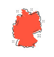 cartoon germany map icon in comic style germany vector image vector image