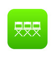 chairs icon digital green vector image vector image