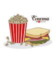 Cinema Food design vector image vector image
