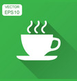 coffee tea cup icon in flat style coffee mug with vector image