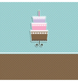 cute cupcake card vector image vector image